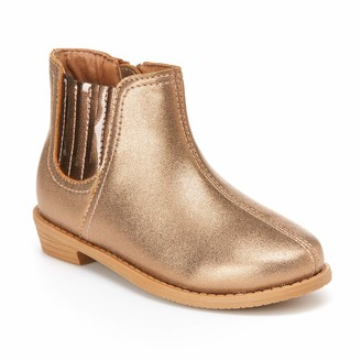 Carter's Simple Joys by Baby Girls' Ella Bootie Chelsea Boot Tan 4 M US Toddler