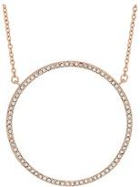 "Lauren Ralph Lauren Rose Chic 17"" Pave Ring Pendant Necklace"