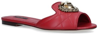 Dolce & Gabbana Leather Devotion Heart Mules