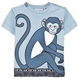 Dolce & Gabbana Blue Monkey and Tile Print Tee