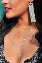 Minx Grey Tassel Earrings
