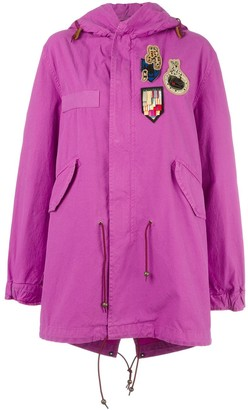 Mr & Mrs Italy Bouganville patched mid parka