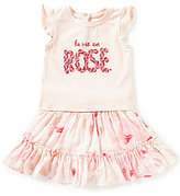 Kate Spade Baby Girls 12-24 Months Flutter Screenprint Top & Skirt Set