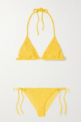Mara Hoffman Rae Fil Coupe Triangle Bikini - Yellow
