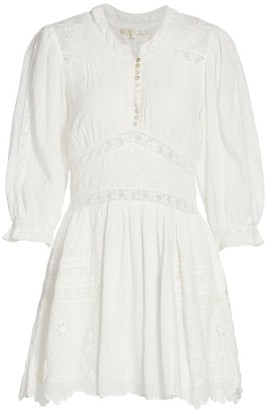 LoveShackFancy Leno Embroidered Cotton Dress