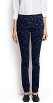 Lands' End Women's Petite Mid Rise Slim Leg Jeans-Denim Floral