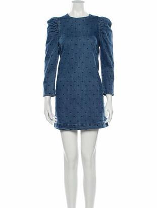 Ulla Johnson Printed Mini Dress w/ Tags Blue