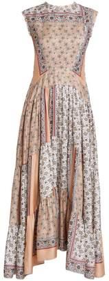 Chloé Patchwork Bandana Print Silk Maxi Dress