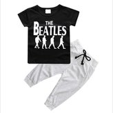 Generic 2pcs Toddler Kids Baby Boy T-shirt+Long Pants Outfits Clothing Set