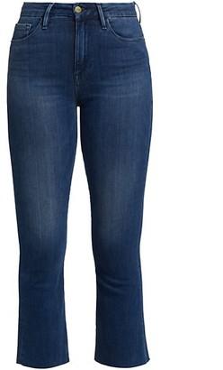 Frame Le Crop Mini Raw-Edge Bootcut Jeans