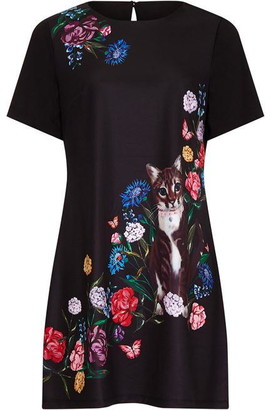 Yumi Cat Placement Black Tunic
