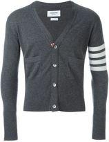 Thom Browne striped sleeve cardigan - men - Cashmere - 0