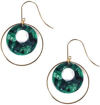 Eye Candy Los Angeles Eye Candy La Alta Green Resin Drop Earrings