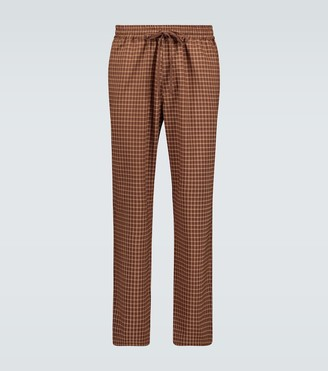 Barena Cosma checked wool pants