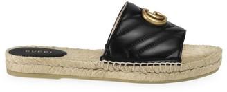 Gucci Pilar Flatform Leather Sandals