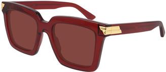 Bottega Veneta Chunky Square Acetate Sunglasses