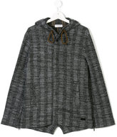 Paolo Pecora Kids hooded tweed coat