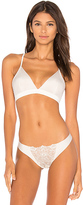Commando Crown Embroidered Back Bralette in Ivory. - size S/M (also in )
