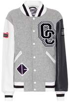Opening Ceremony Classic Varsity Jacket in wool blend and leather