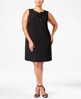 Calvin Klein Plus Size Lace-Up Dress