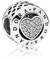Pandora Charm Bead 796218CZ Silver Zirconia Heart signature