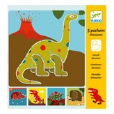 Djeco 5 Dinosaur Stencils