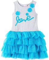 """Nannette Toddler Girl Love"""" Applique Dress"""
