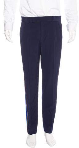 Gucci 2017 Velvet-Trimmed Wool Pants w/ Tags