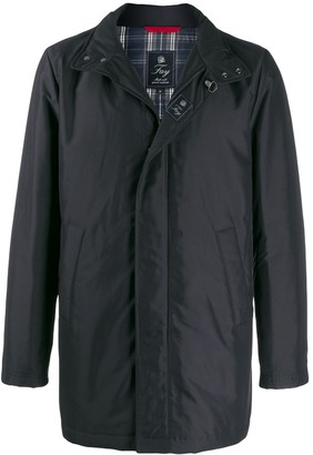 Fay zip front rain coat