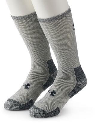Under Armour Men's 2-pack ColdGear Wool-Blend Outdoor Boot Socks