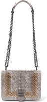 Bottega Veneta Mini Studded Intrecciato Watersnake Shoulder Bag - one size
