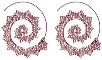 Amrita Singh Women's Earrings Rose - Rose Goldtone Aria Threader Spiral Hoop Earrings
