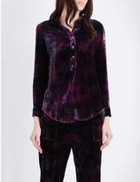 Raquel Allegra Henley velvet blouse