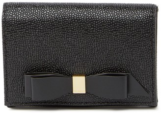 Ted Baker Bow Flap Leather Mini Purse