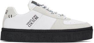Versace Jeans Couture Black and White Platform Low-Top Sneakers