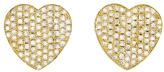 Jennifer Meyer Pavé Diamond Heart Stud Earrings