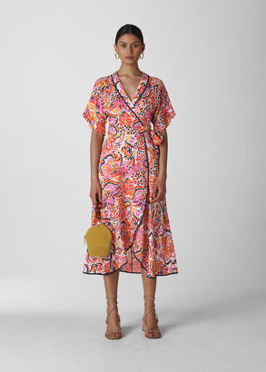 Art Floral Wrap Dress