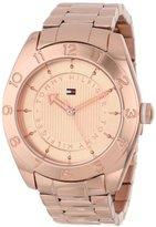 Tommy Hilfiger Women's 1781358 Cool Sport Rose Gold Numbered Bezel Watch
