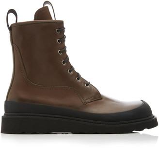 Bottega Veneta Leather Work Boots