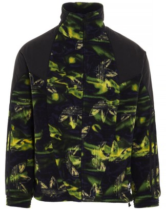 adidas Big Trefoil Printed Polar Fleece Track Jacket