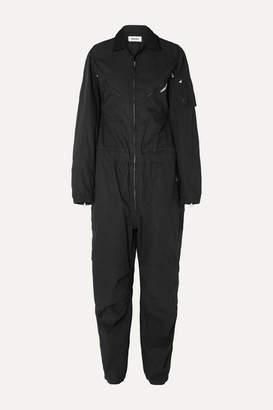 Ambush Convertible Embroidered Cotton-canvas Jumpsuit - Black