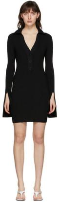 Alexander Wang Black Split Cuff Polo Dress