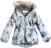 Molo Horses Print Nylon Hooded Ski Jacket
