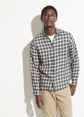 Vince Classic Plaid Long Sleeve