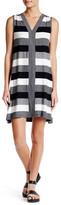 Max Studio Striped Jersey V-Neck Dress