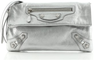 Balenciaga Giant Studs Envelope Strap Clutch Leather