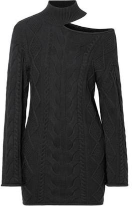 RtA Corin Cutout Ribbed Cotton Mini Dress