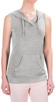 Workshop Republic Clothing French Terry Hoodie Shirt - Sleeveless (For Women)