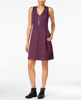 Maison Jules V-Neck Fit & Flare Dress, Only at Macy's