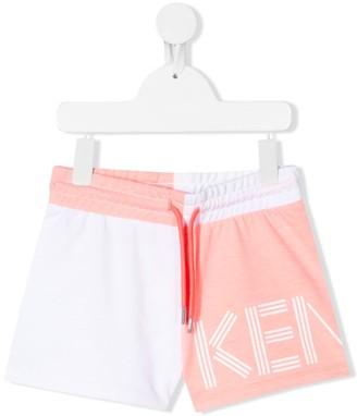 Kenzo Kids Colour-Block Track Shorts